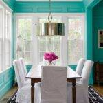 Coolest Brown Blue Dining Room Concerning Remodel