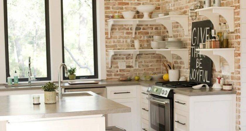 Coolest Exposed Brick Kitchen Your Home Interior