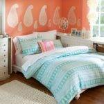 Coral Light Blue Bedroom Ideas
