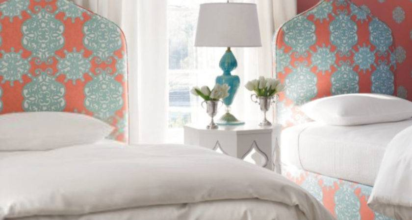 Coral Turquoise Bedroom Ideas