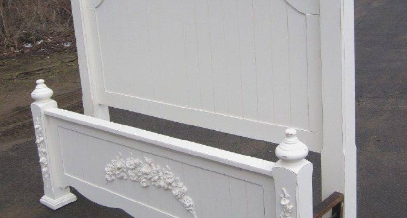Corner Cabinets Painted White Rose Appliques