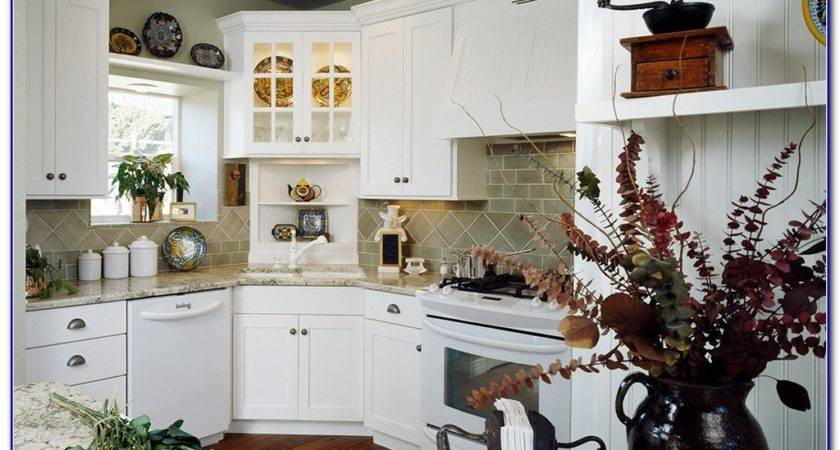 Corner Kitchen Cabinet Decorating Ideas Home