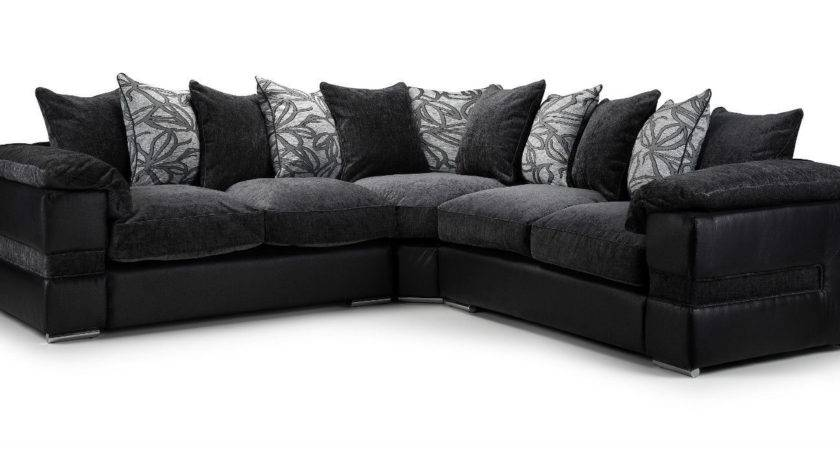 Corner Sofa Black Grey Reversadermcream