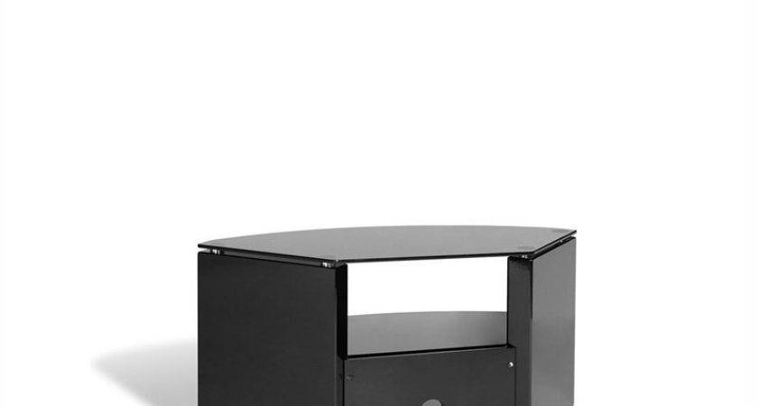 Corner Three Shelf Stand Black