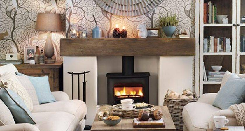 Cosy Woodland Theme Living Room Decorating Housetohome