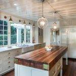 Cottage Kitchen Farmhouse Sink Wood Counters