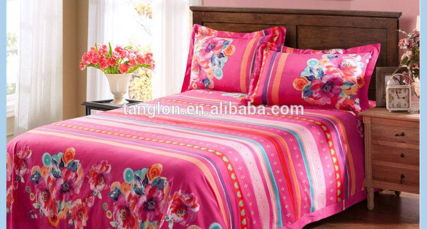 Cotton Bright Colorful Floral Home Comforter Bedding
