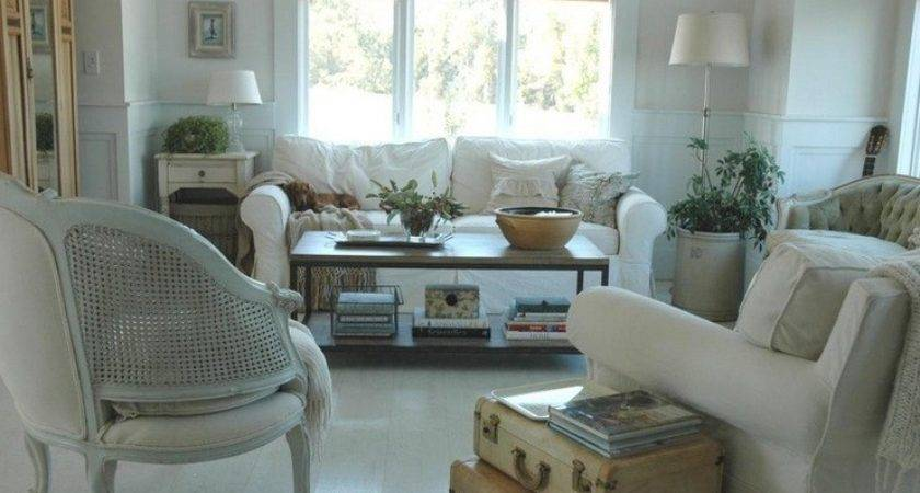 Country Chic Living Room Design Vintage Case