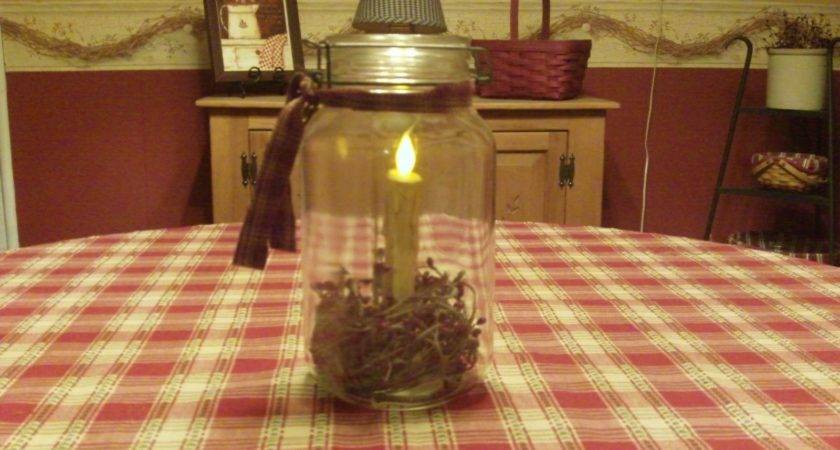 Country Home Decorating Ideas Canning Jar Idea