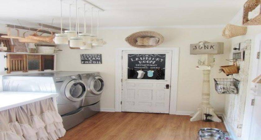 Country Laundry Room Decorating Ideas Cottage