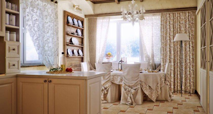 Country Style Kitchen Dining Area Design Olpos