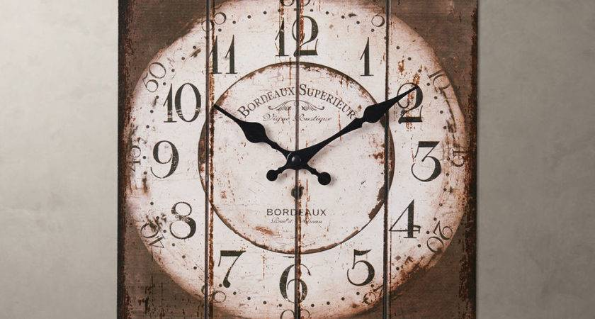 Country Vintage Antique Wood Wall Clock Home Decor