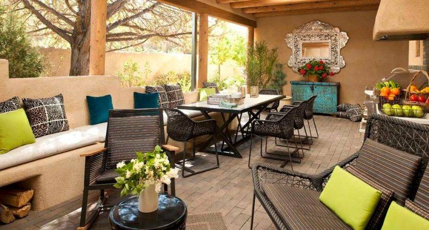Covered Patio Decorating Ideas House Decor