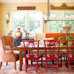 Cozy Decorating Orange Red Inspired Room