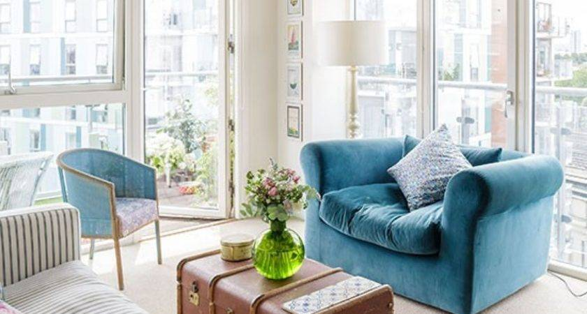 Cream Teal Living Room Decorating Housetohome