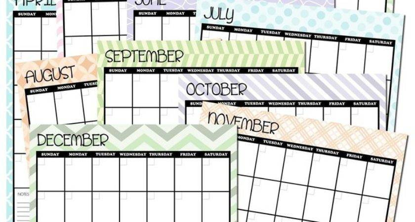 Create Your Own Monthly Calendar Aztec