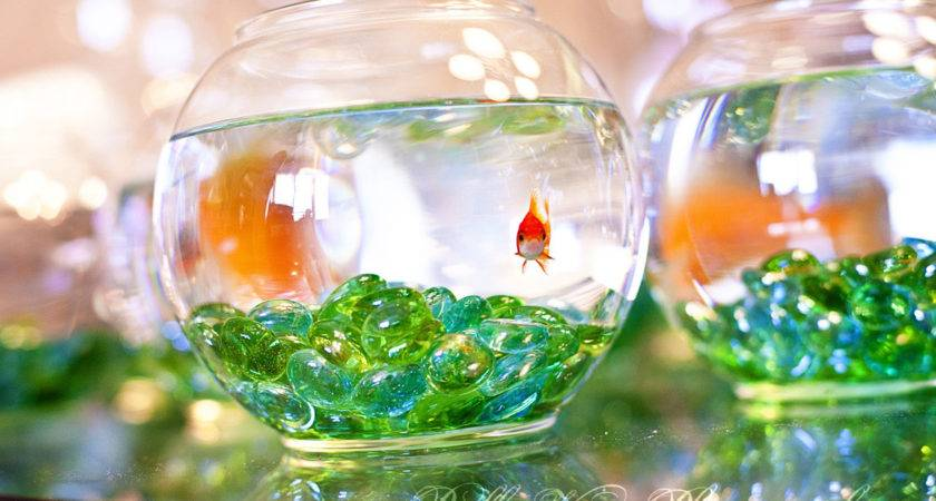 Creative Centerpieces One Fishbowl Six Different Uses