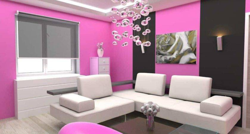 Creative Combination Between Pink Black White Color