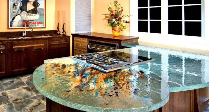 Creative Kitchen Counter Top Design Disguises Low Cost