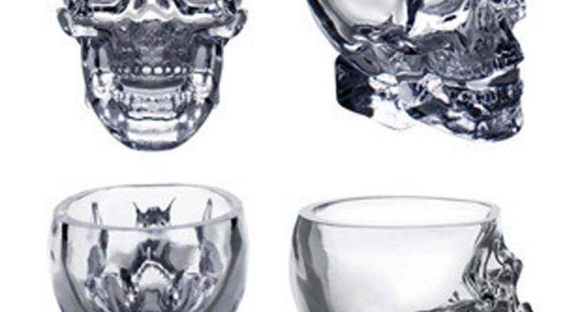 Crystal Skull Head Glass Cup Beer Vodka Cocktail Red