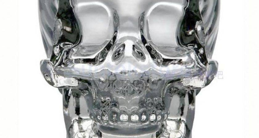 Crystal Skull Head Vodka Whiskey Wine Glass Cup Home