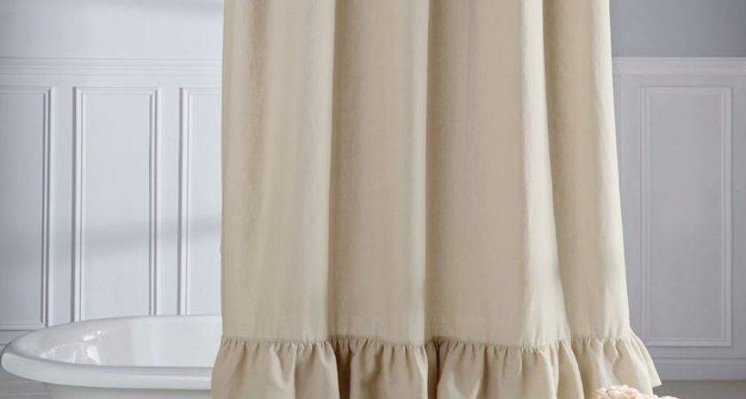 Curtain Astonishing Ruffled Shower Ruffle
