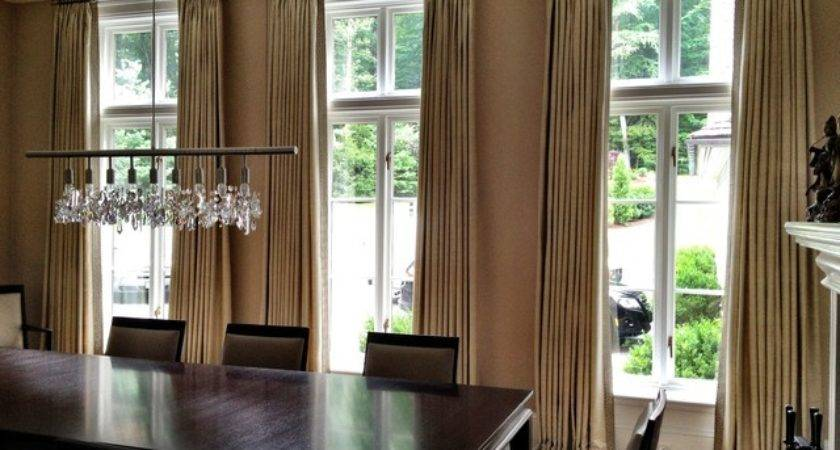 Curtains Contemporary Dining Room Other Metro