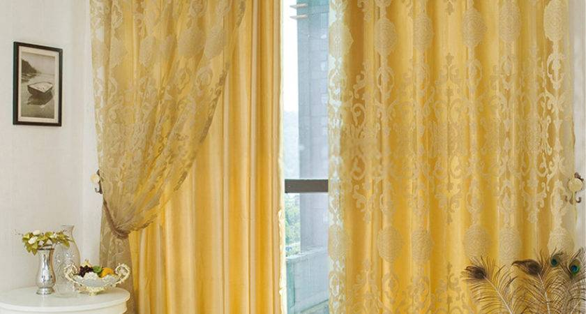 Curtains Yellow Living Room Peenmedia