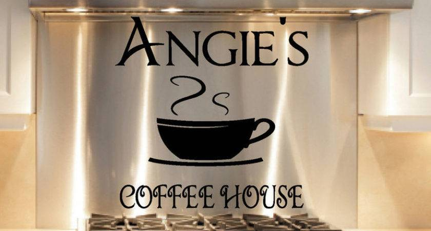 Custom Coffee Cup House Kitchen Decal Sticker Word Ebay