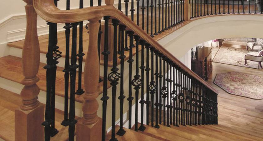 Custom Iron Stair Balusters Traditional Staircase
