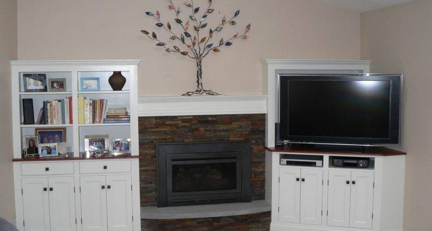 Custom Made Cabinets Around Fireplace Meisterbuilders