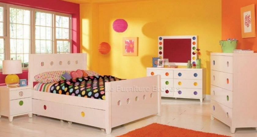Cute Yellow Wall Paint Color Girls Bedroom Decorating