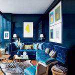 Dark Blue Interior Designs Modern Bedroom