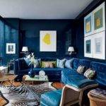 Dark Blue Living Room Ideas Modern House