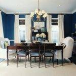 Dark Blue Living Room Walls Modern House