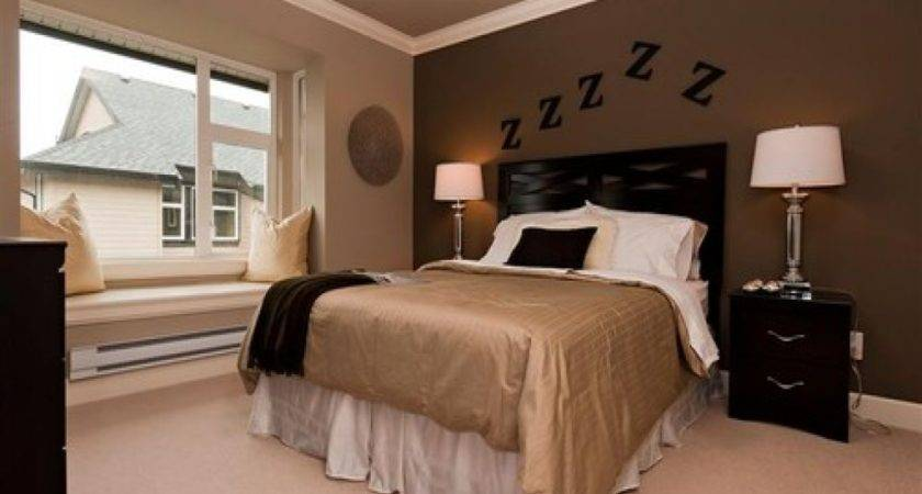 Dark Brown Bedroom Accent Wall Bedrooms