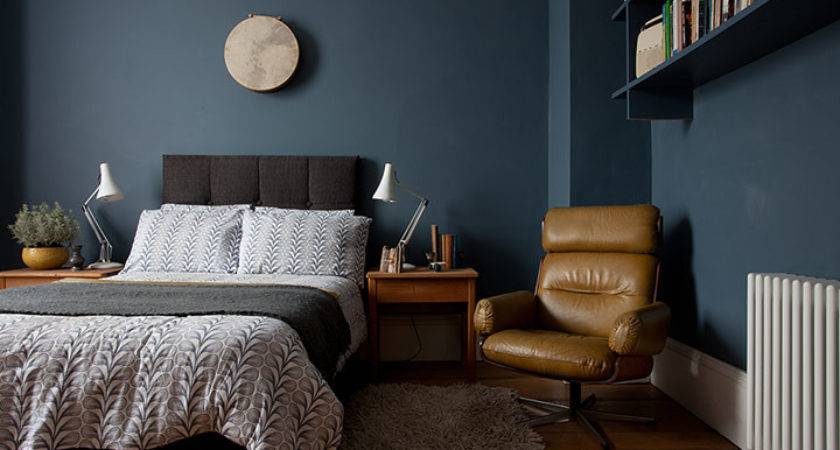 Dark Gray Blue Bedroom Imgkid