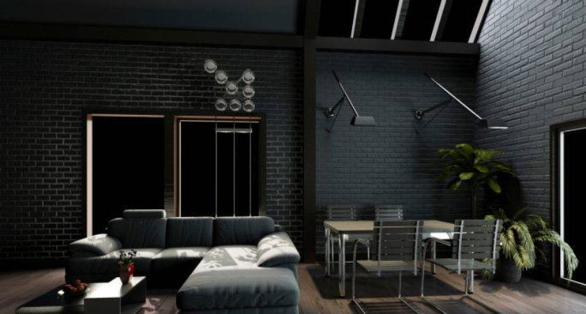 Dark Grey Walls Home Design