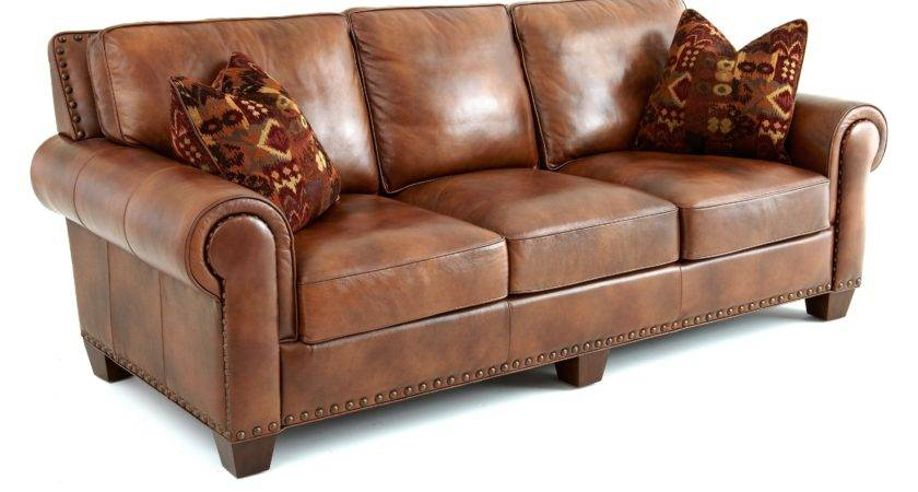 Dark Small Brown Leather Sofa Tufted Pattern