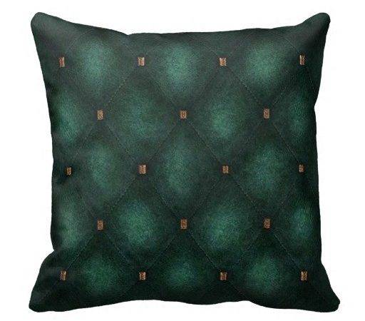 Dark Teal Quilted Look Cushion Throw Pillows Zazzle