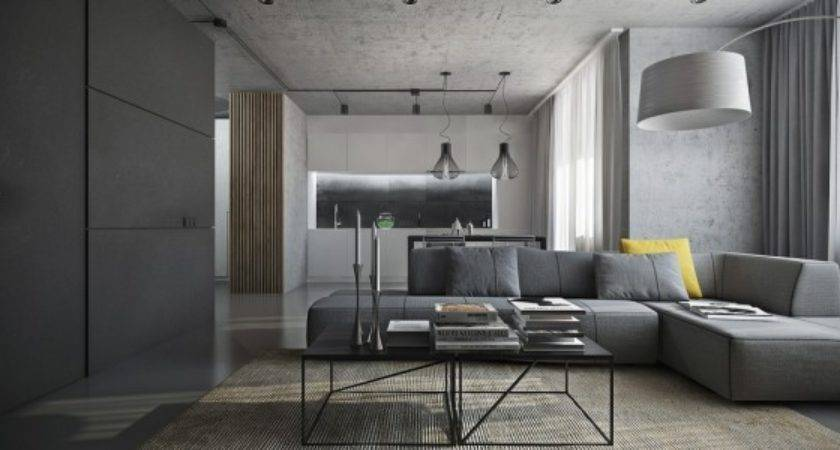 Dark Themed Interiors Using Grey Effectively Interior