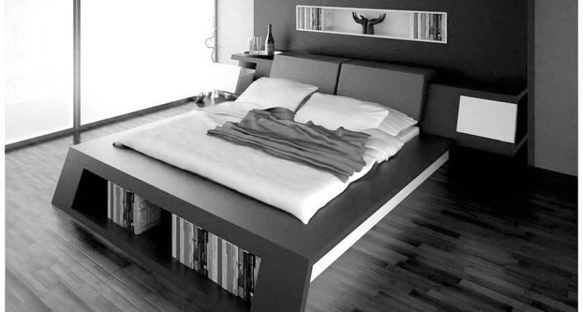 Dazzling Modern Gray Bed Idea Charming Hanging Side