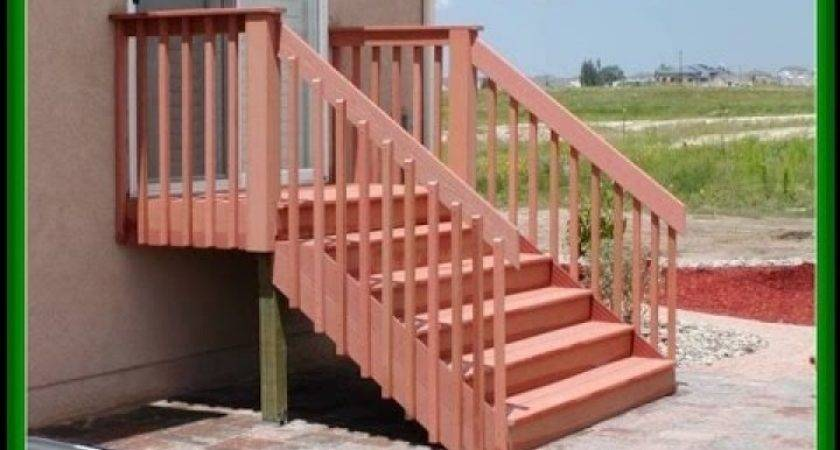 Deck Stair Railing Lowesdeck Lowes Youtube