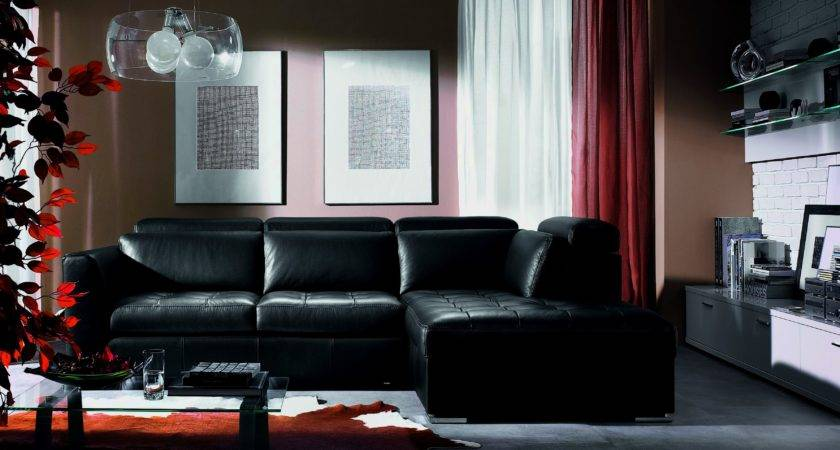 Decorate Around Black Leather Couch Living