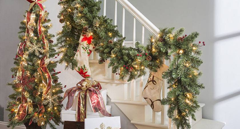 Decorate Banister Holidays Above
