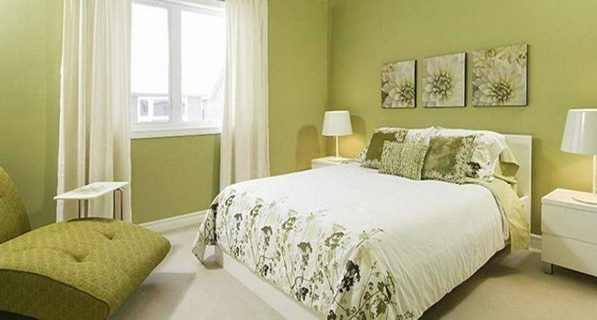 Decorate Bedroom Green Colour Interior