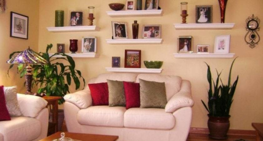 Decorate Floating Shelves Living Room