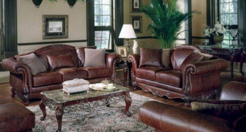 Decorate Living Room Brown Leather Furniture