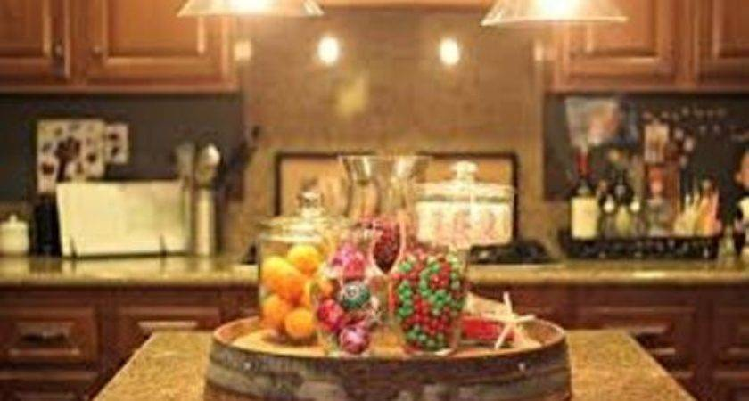 Decorate Your Kitchen Island Christmas Ways