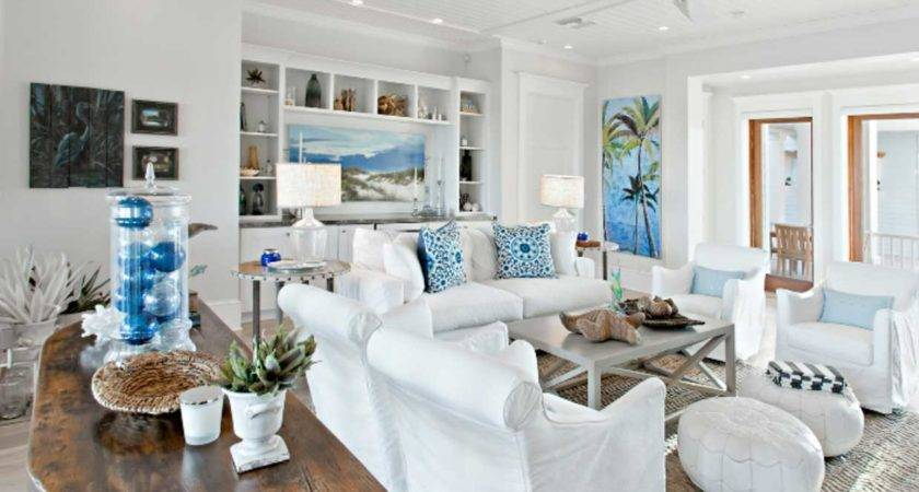 Decorating Beach House White Blue Colors Ideas